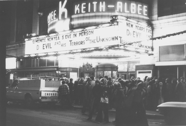 The Keith Albee at night, circa 1960s