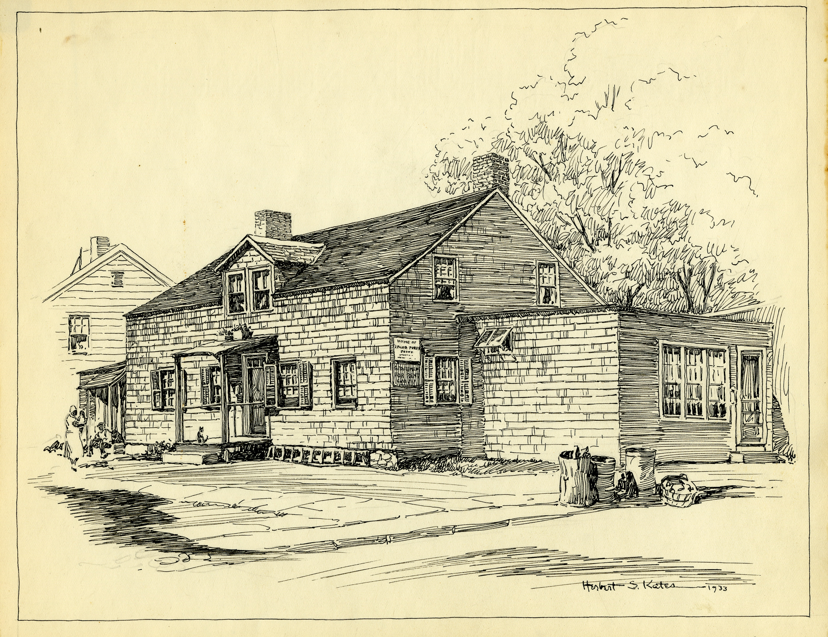 Early Depiction of the Jacob Purdy House