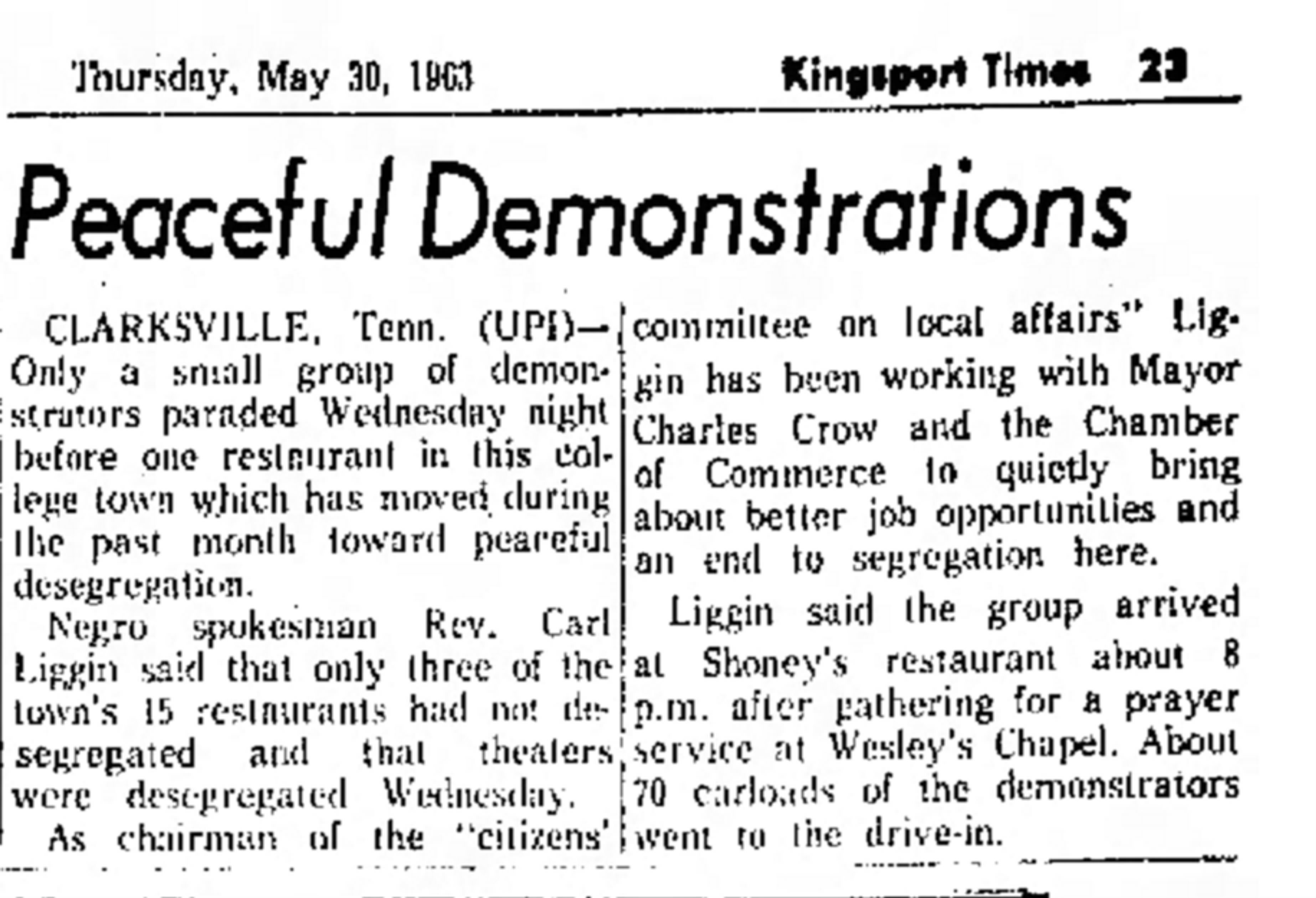 Kingsport Times (Kingsport Tennessee), May 30, 1963
