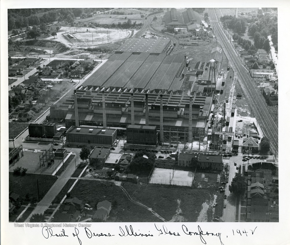 Aerial view of the factory, 1942