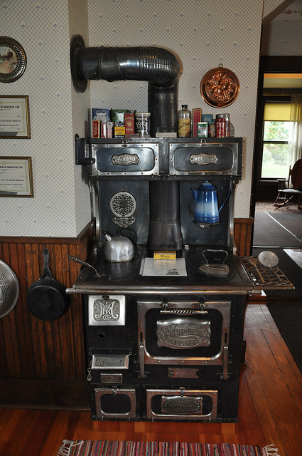 Old- time Monarch wood cook stove display