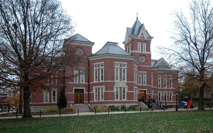 View of Pickard Hall on U of Missouri campus, former location of museum