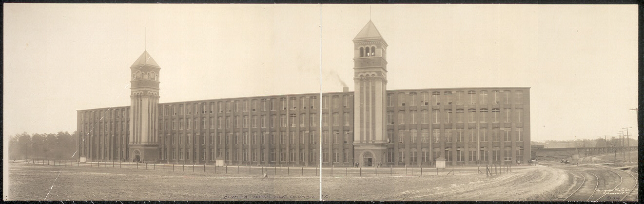 1909 photograph of Olympia Cotton Mill (Haines Photo Co.)
