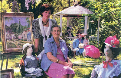 Huie seated with her daughter and artist Millie Wilcox on the grounds of the museum.