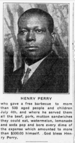 Henry Perry was known for his generosity, as illustrated by stories like this one