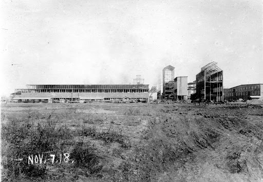 Construction of the carbon plant addition in 1918