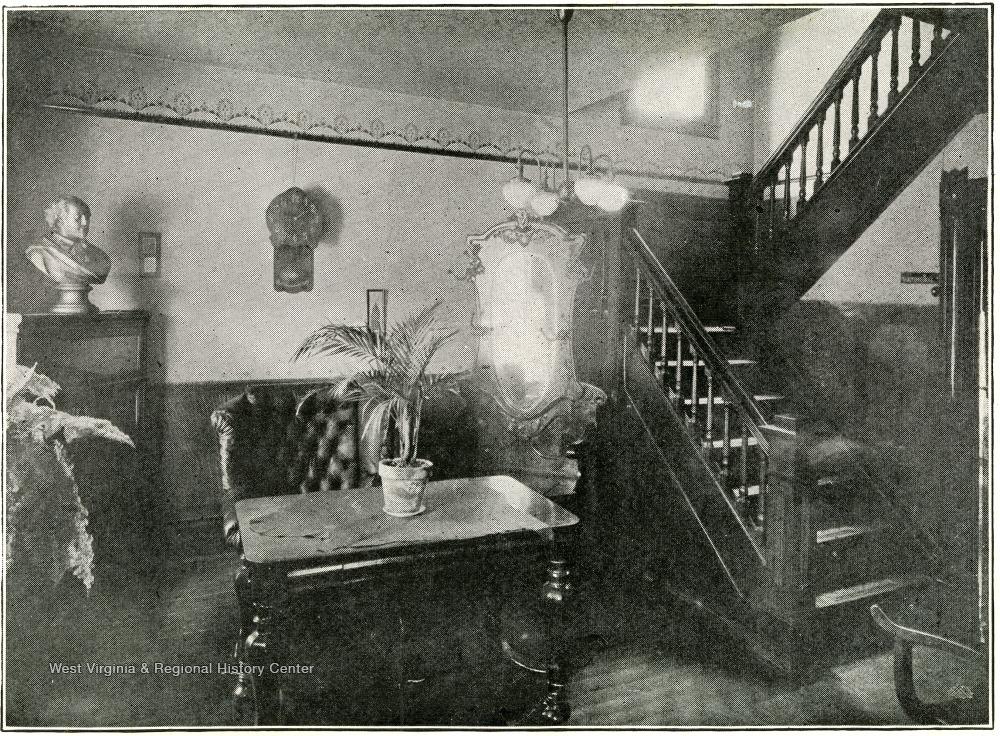 Reception room at Barnett Hospital, 1919