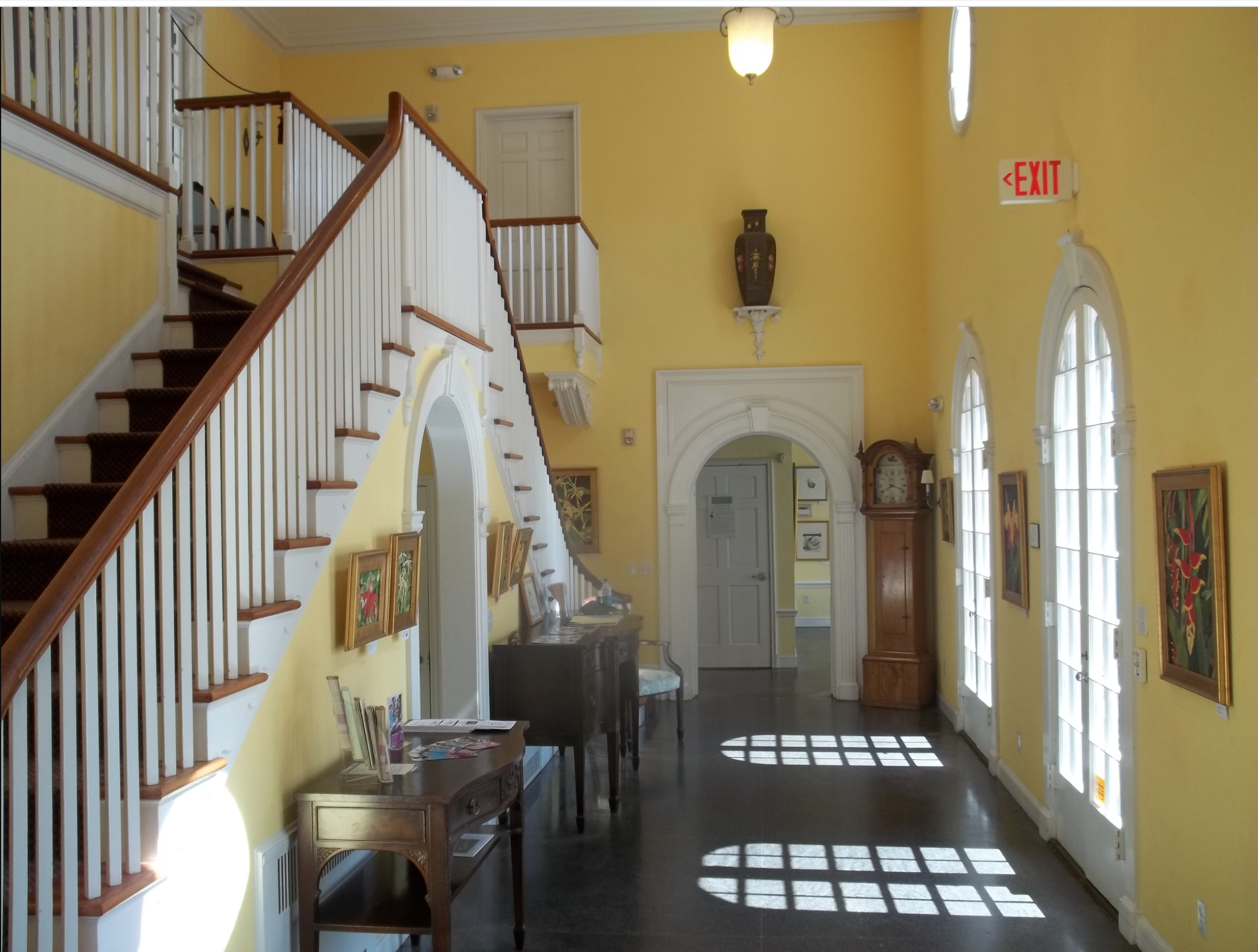 A picture of the inside of the Christy Payne Mansion.