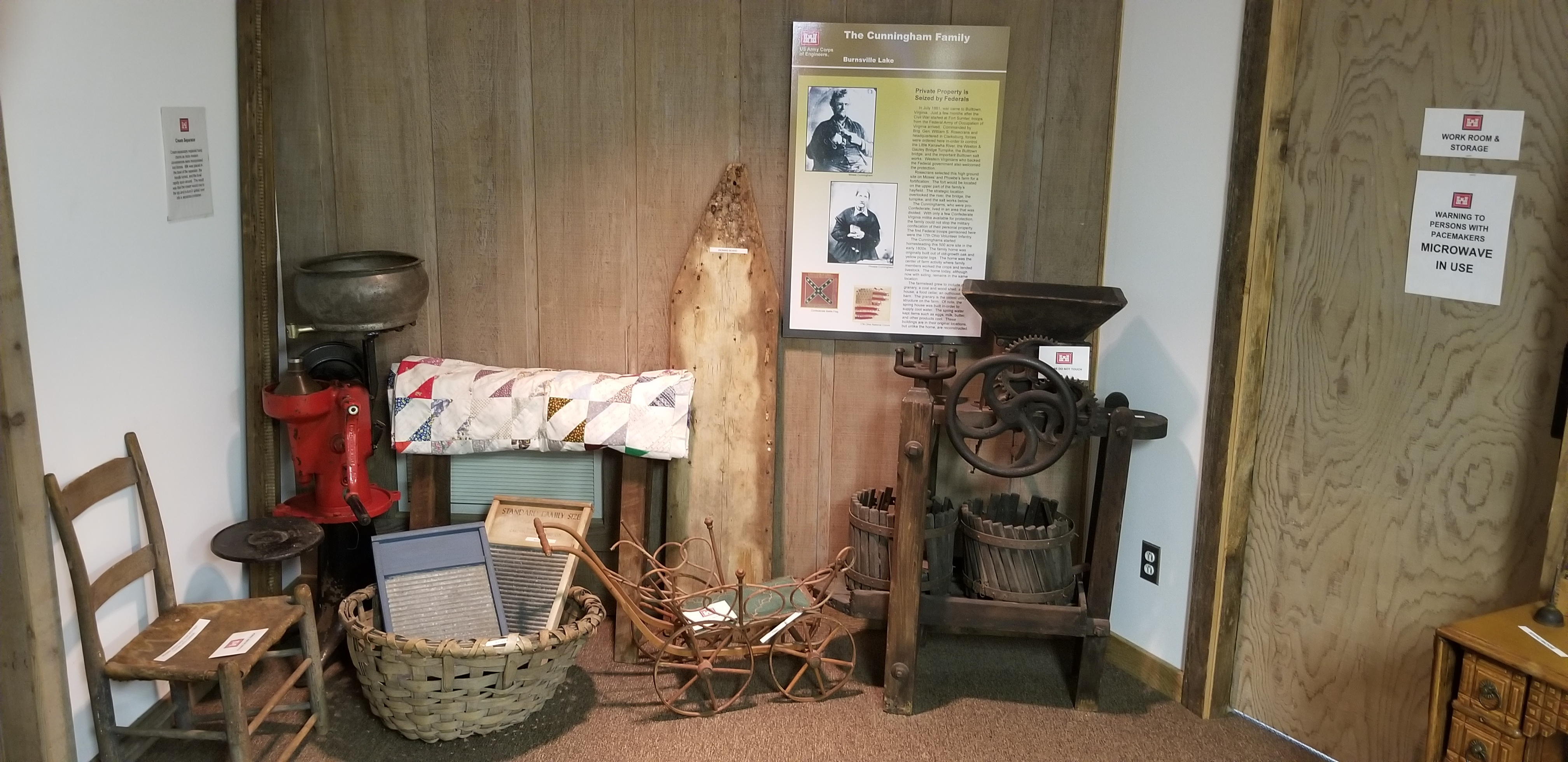 Cunningham Family display and items