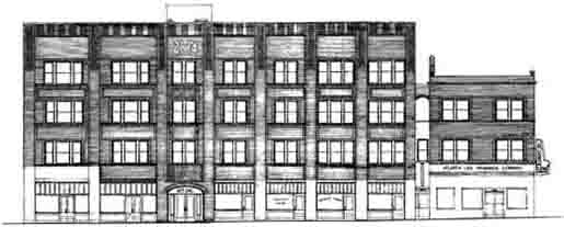 A sketch of plans for the Herndon building.
