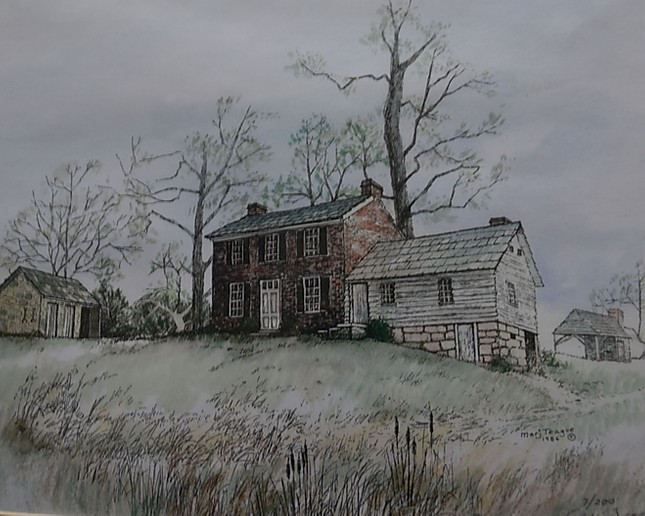 """""""A view of the Phelps House from the Little Kanawha River."""""""