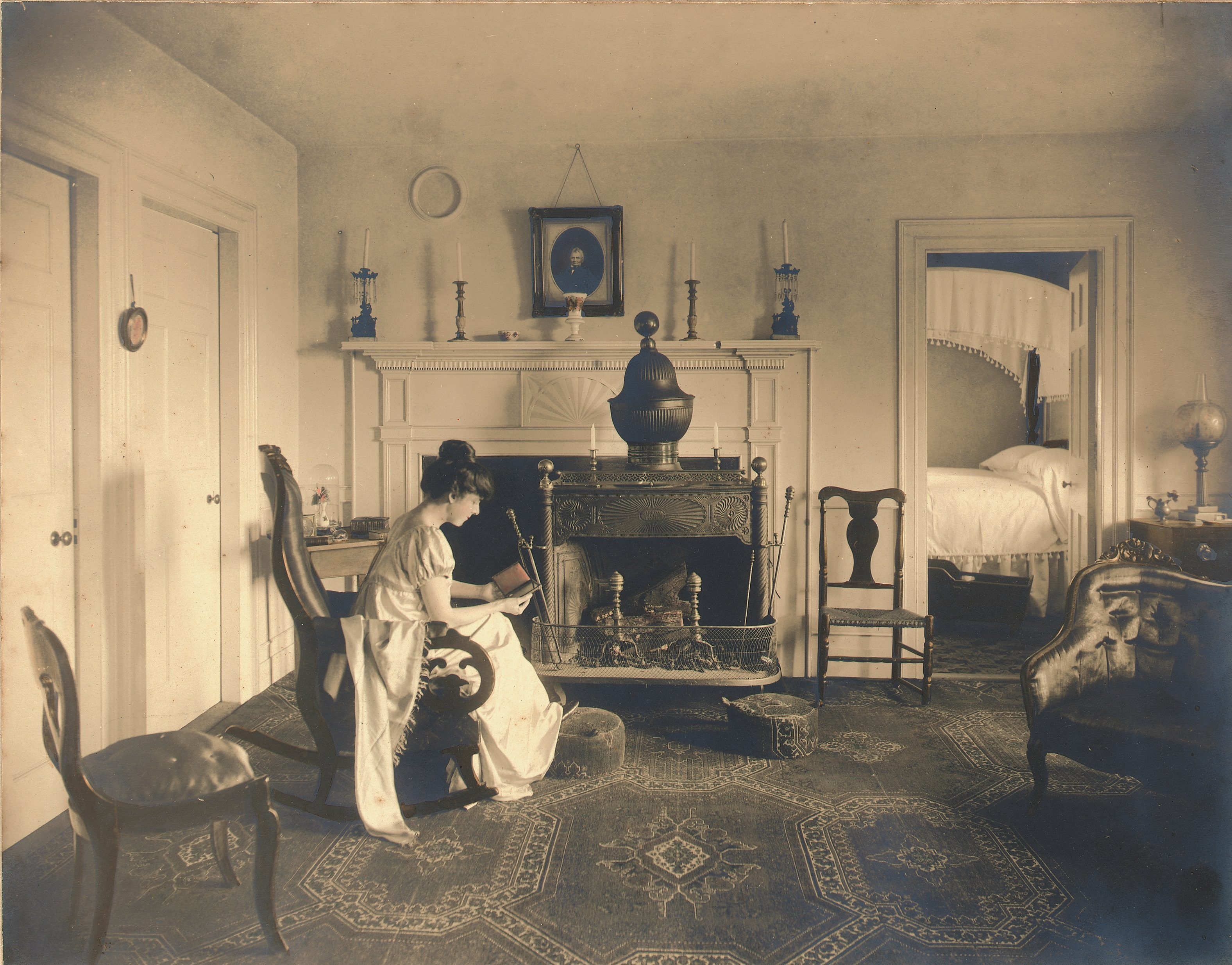 Alice Mead Neergard in the Homestead Parlor