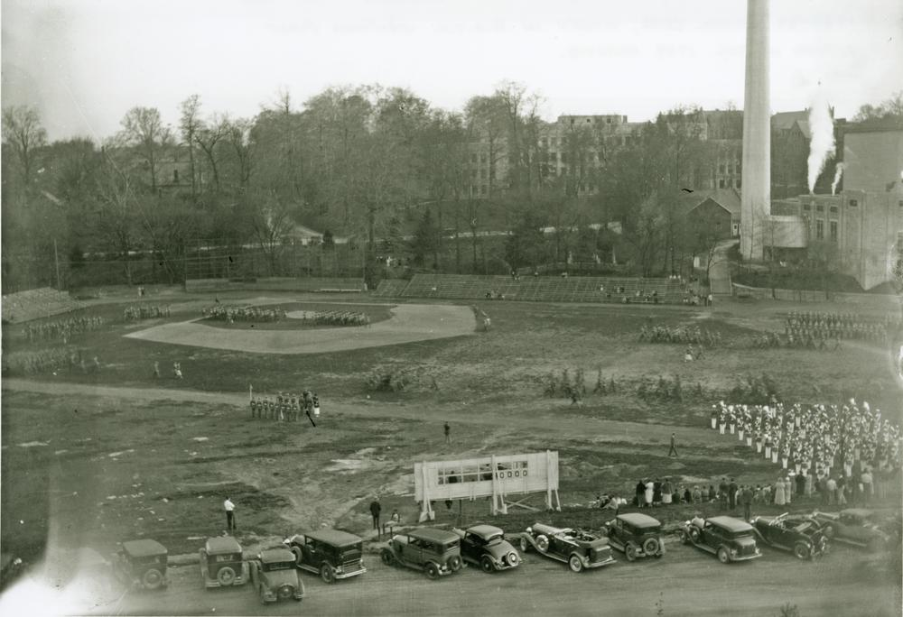 Jordan Field, an unknown date of when the photograph was taken, but most likely was taken after 1939 school year.