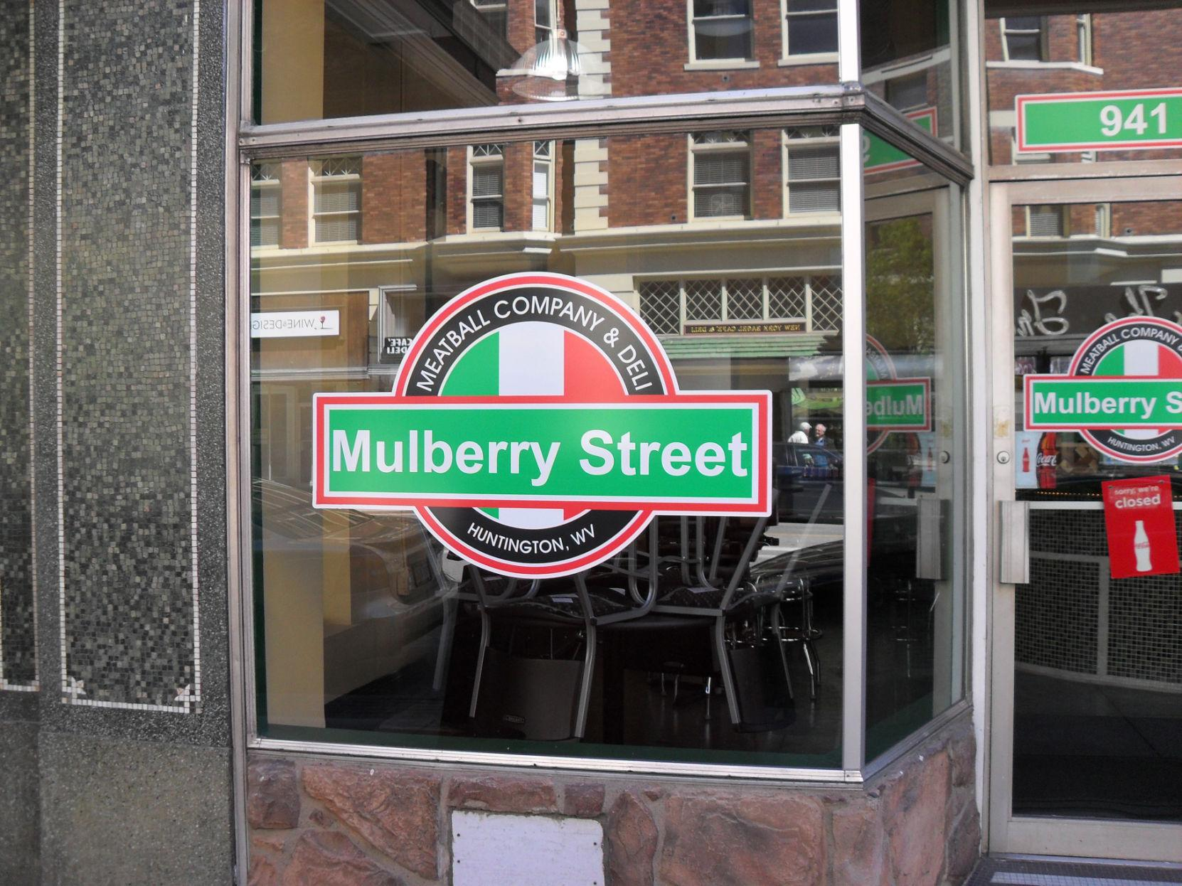 Exterior of Mulberry Street Meatball Co., now closed