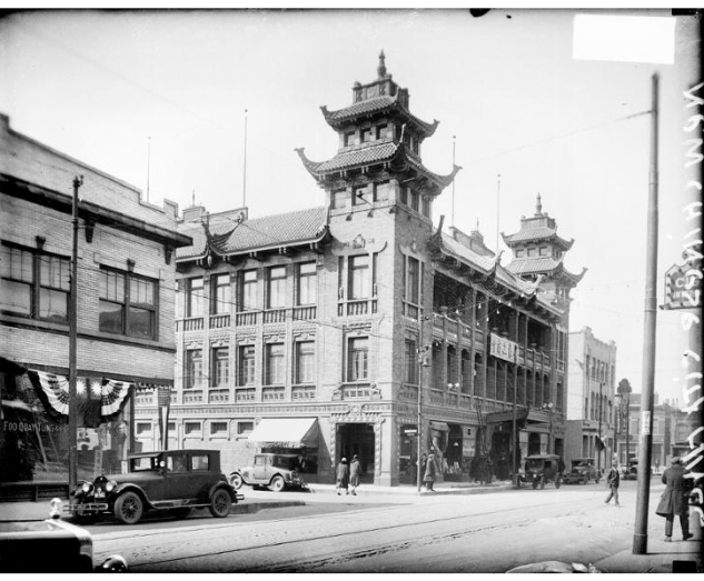 The building in 1928, shortly after its construction
