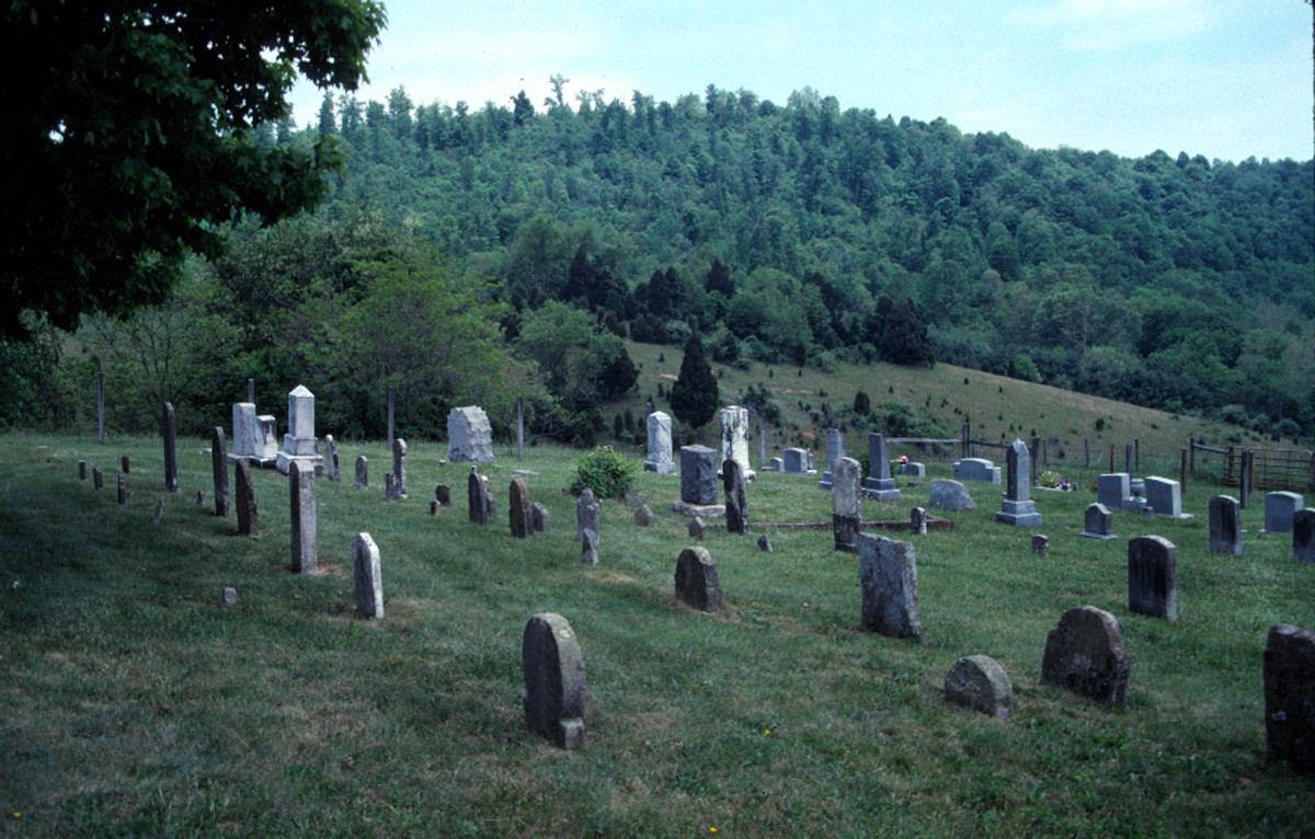 The two ridges of the cemetery can be seen in this photo