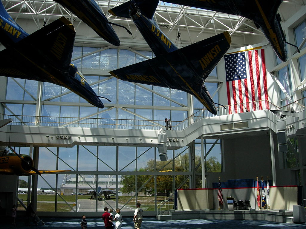 The Blue Angels Atrium of the museum