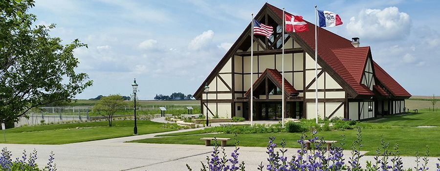 The Museum of Danish America opened in 1994 and is located on the 30-acre Jens Jensen Prairie Landscape Park. Image obtained from the Museum of Danish America.