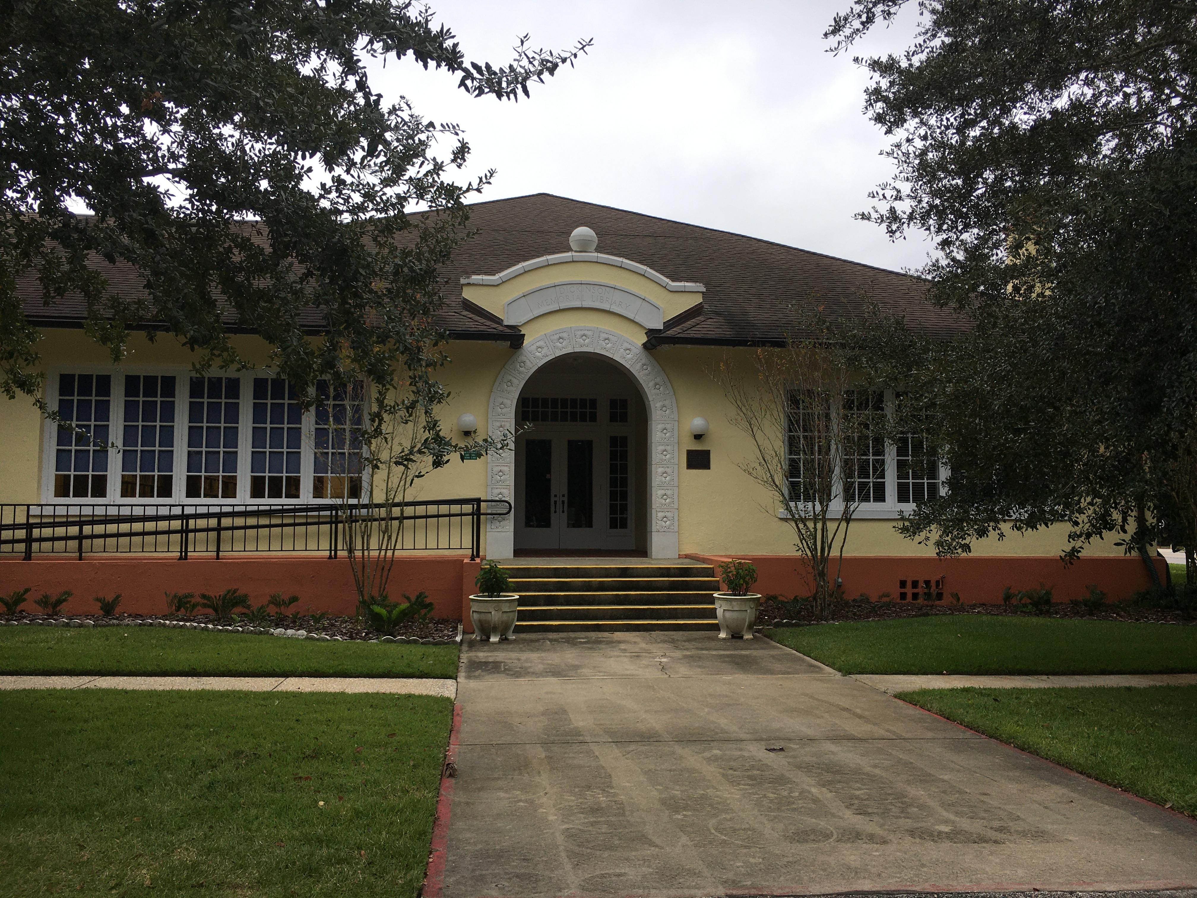Melissa Dickinson Memorial Library (north facade)