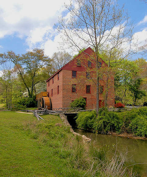 Colvin Mill is a Virginia Landmark listed on the National Register of Historic Places. (Unknown source)