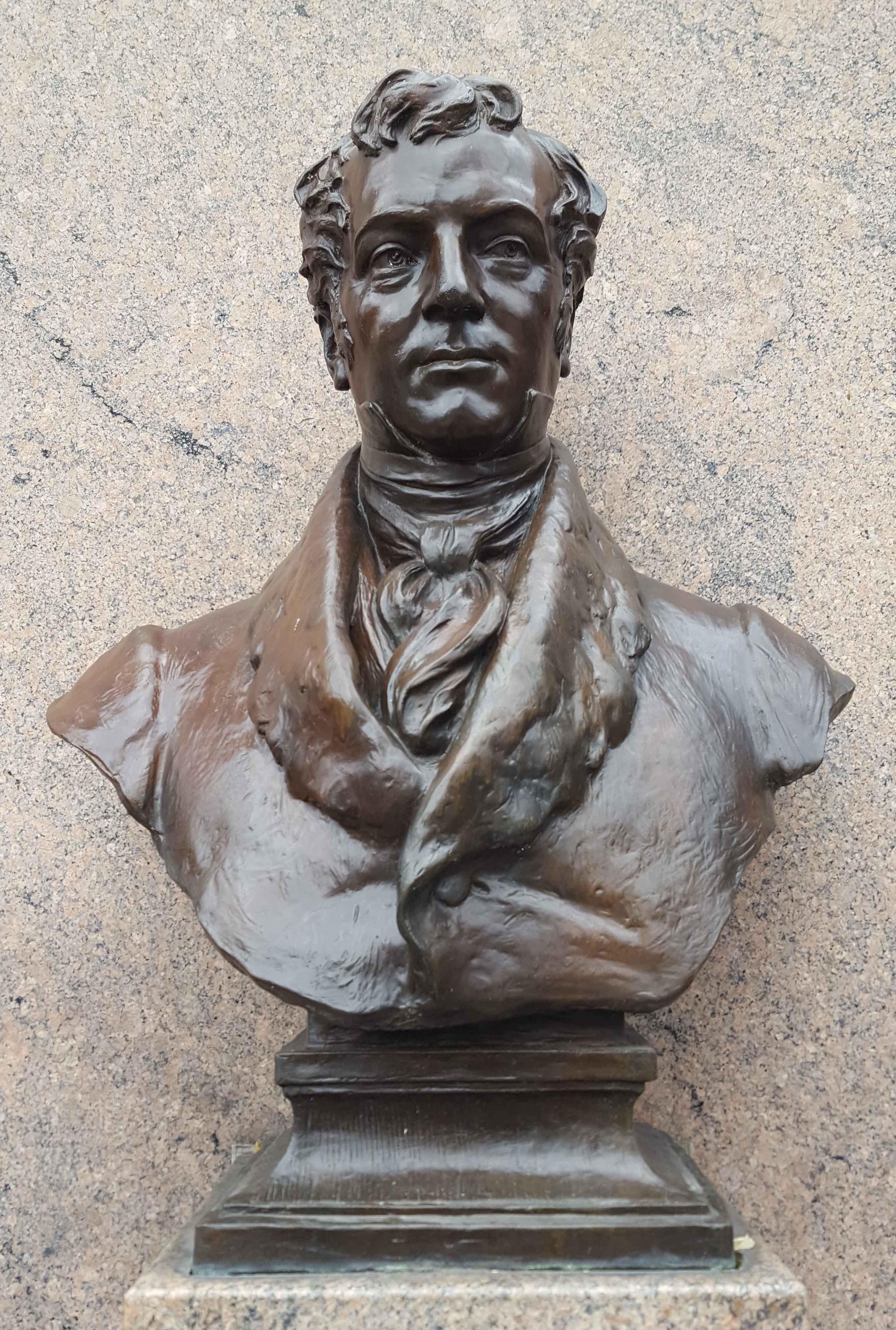 Bust of Washington Irving.