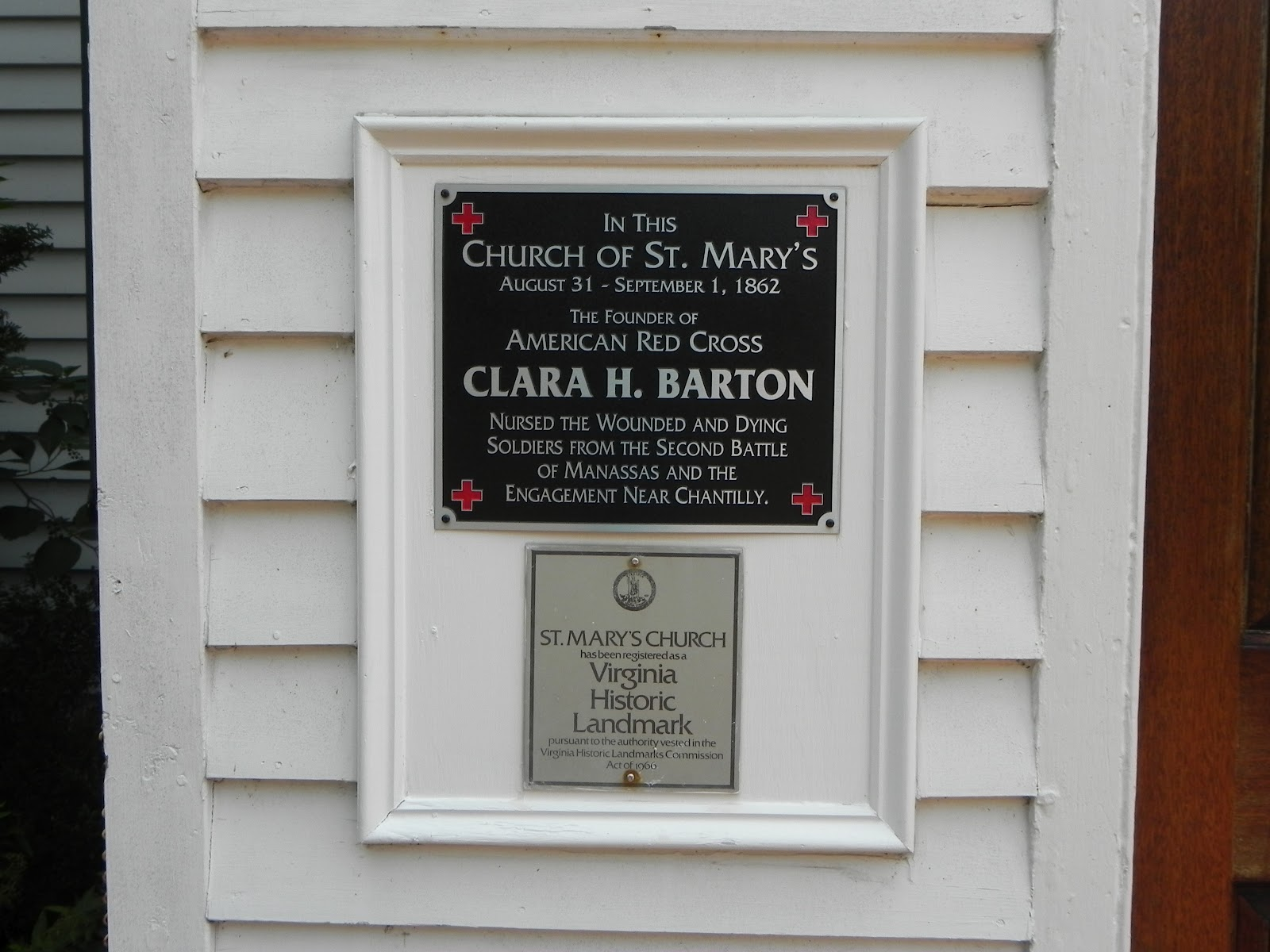 Clara Barton treated Union soldiers at this church, even after the Confederate army occupied the area