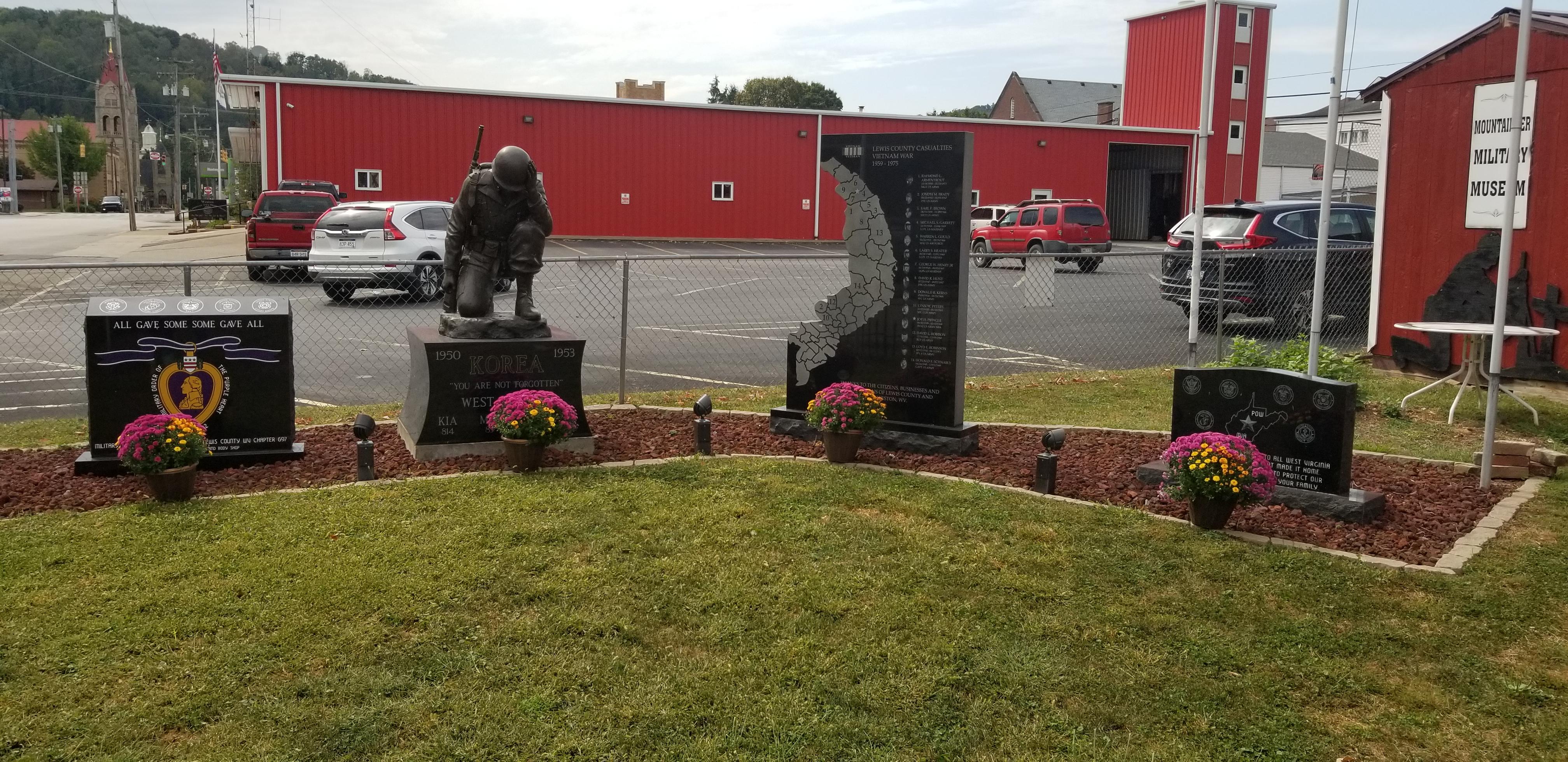 Memorial of Lewis County Casualties of the Vietnam War, Korean War Memorial, & Purple Heart Memorial