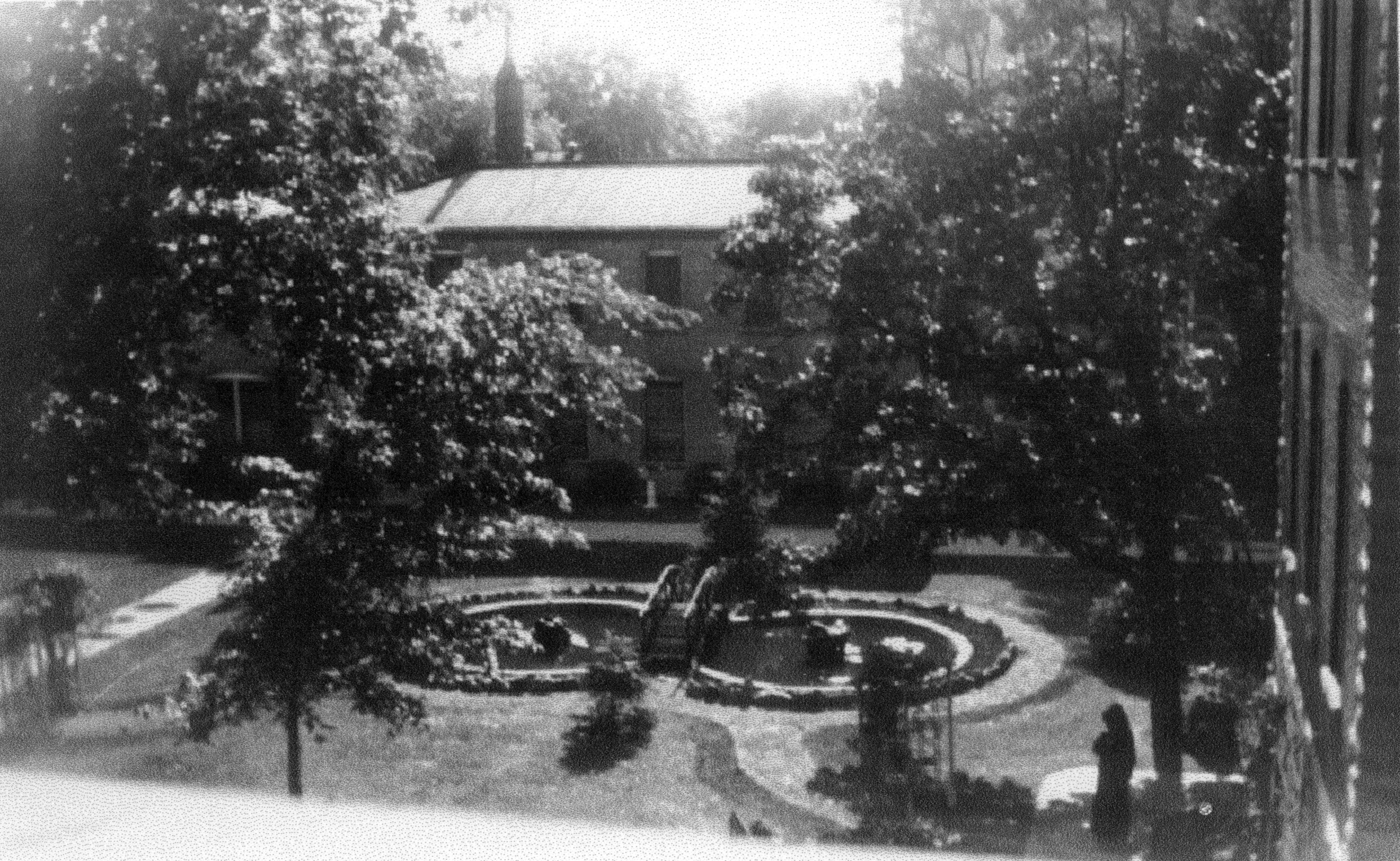 Garden in the back of the CSA motherhouse, c. 1940s.