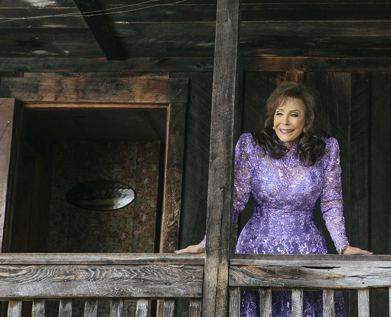 Loretta Lynn on the Front Porch of Her Old HomePlace, 2015