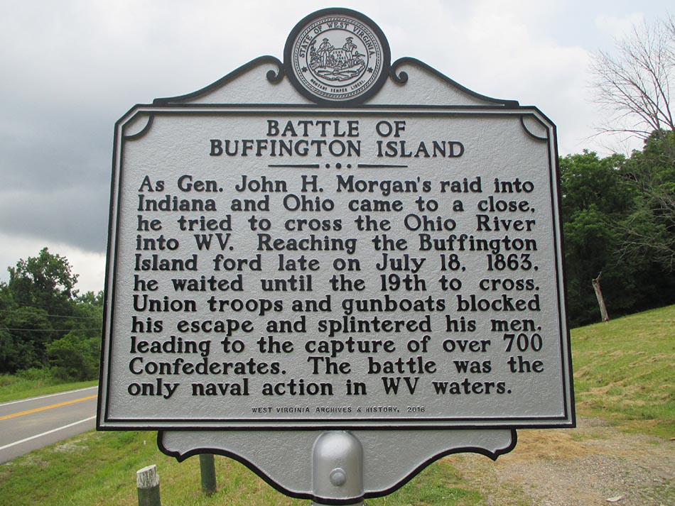 Battle of Buffington Island Historic Marker