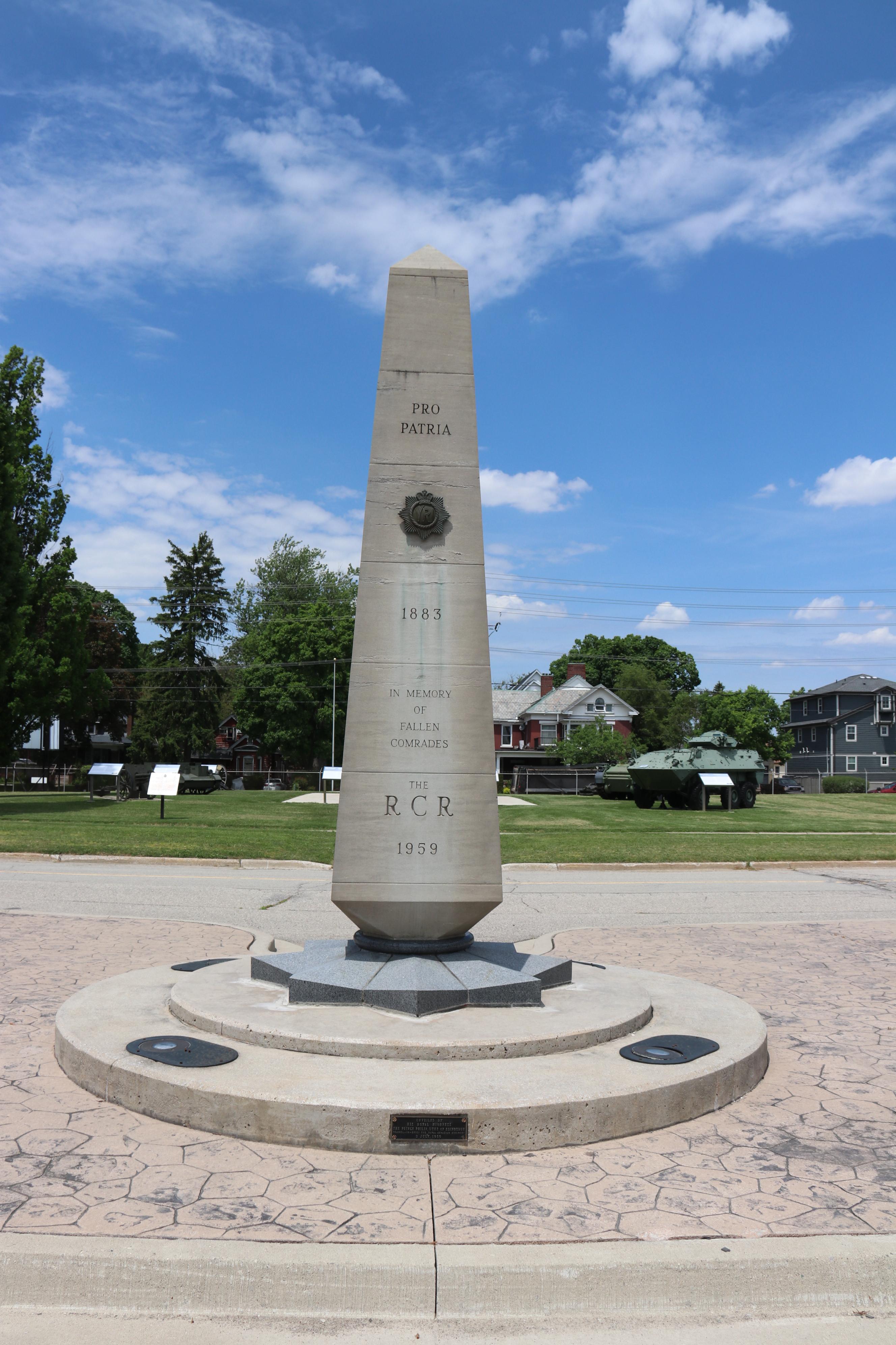 Regimental Memorial (Cenotaph) at The RCR Museum