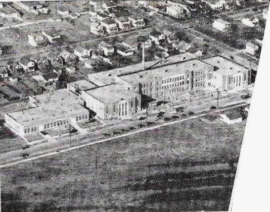 Aerial view of the nearly completed HEHS, 1939