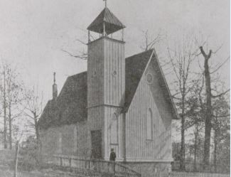 An older image of the church after construction.