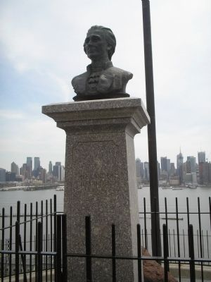 Photograph of Alexander Hamilton's bust.