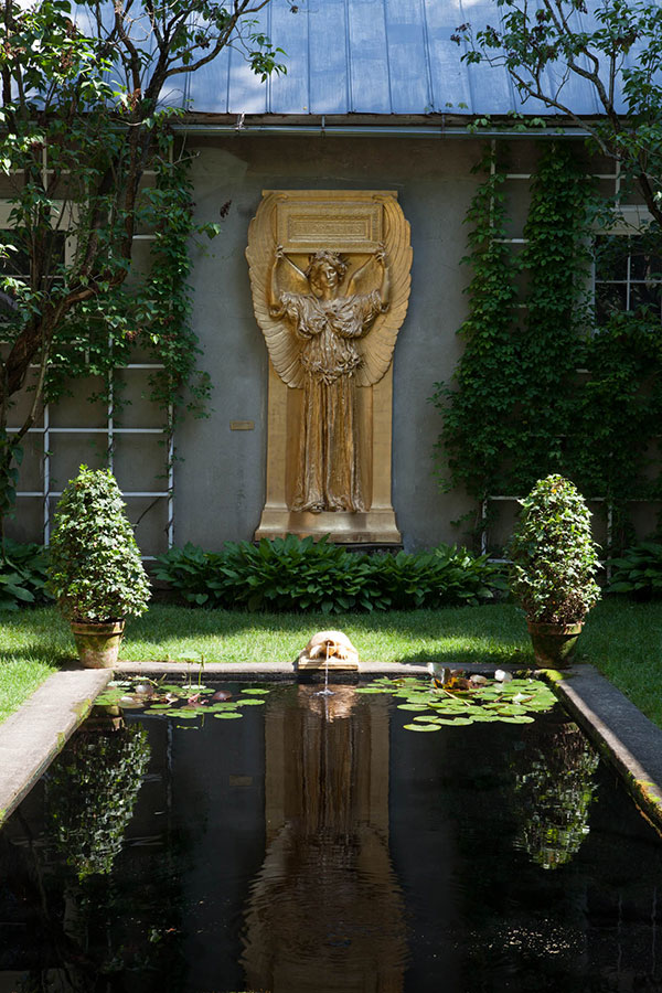 One of Saint-Gaudens' replica sculptures now resides in the Atrium at the park.