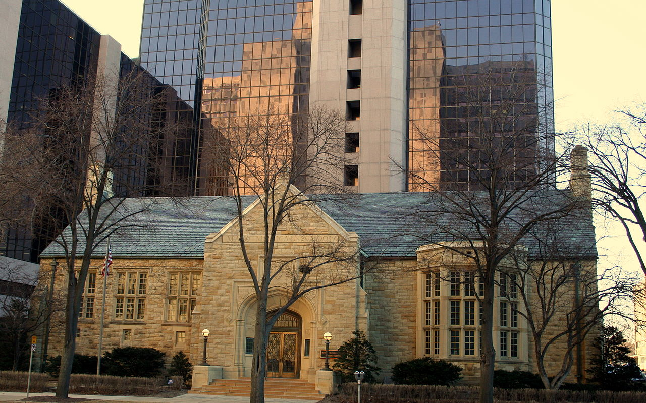 The former Rochester Public Library was built in 1937 and is now the Mitchell Student Center of the Mayo Clinic.