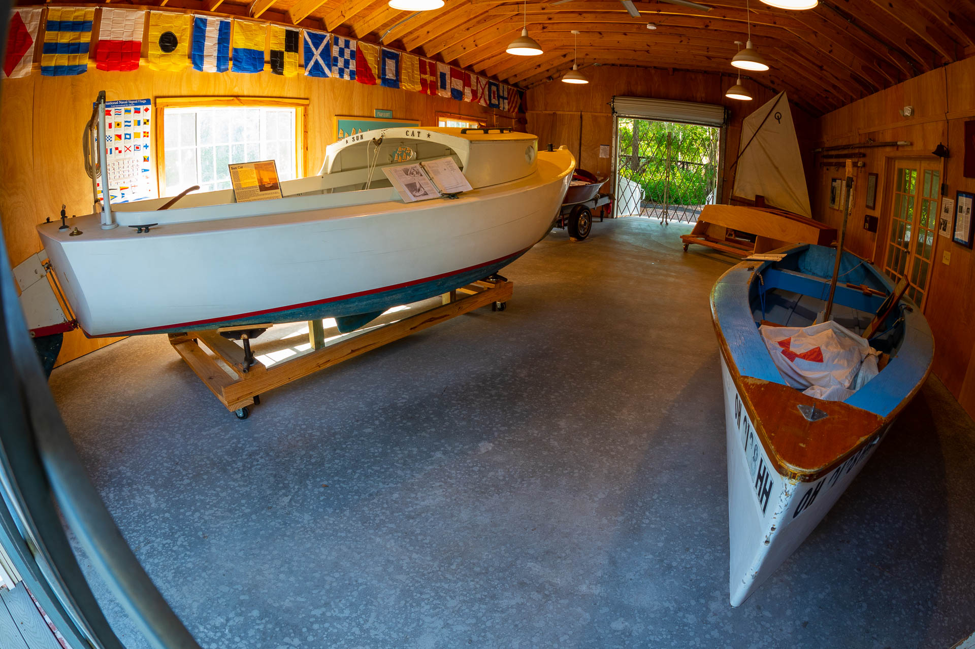 Inside the McKay Creek Boatshop