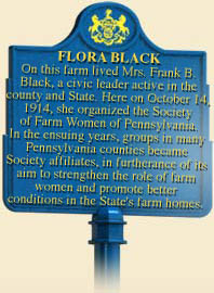 This is the marker that sits on the property in front of the farm that Flora and Franklin owned while they were married with kids.