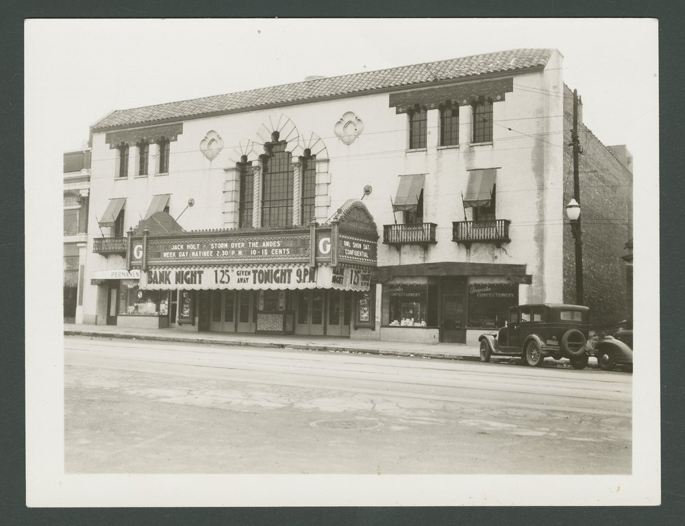 The Granada Theater shortly after opening, circa 1930s