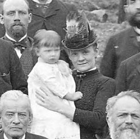 Wife & Child of Ledger editor, J.A. Comerford