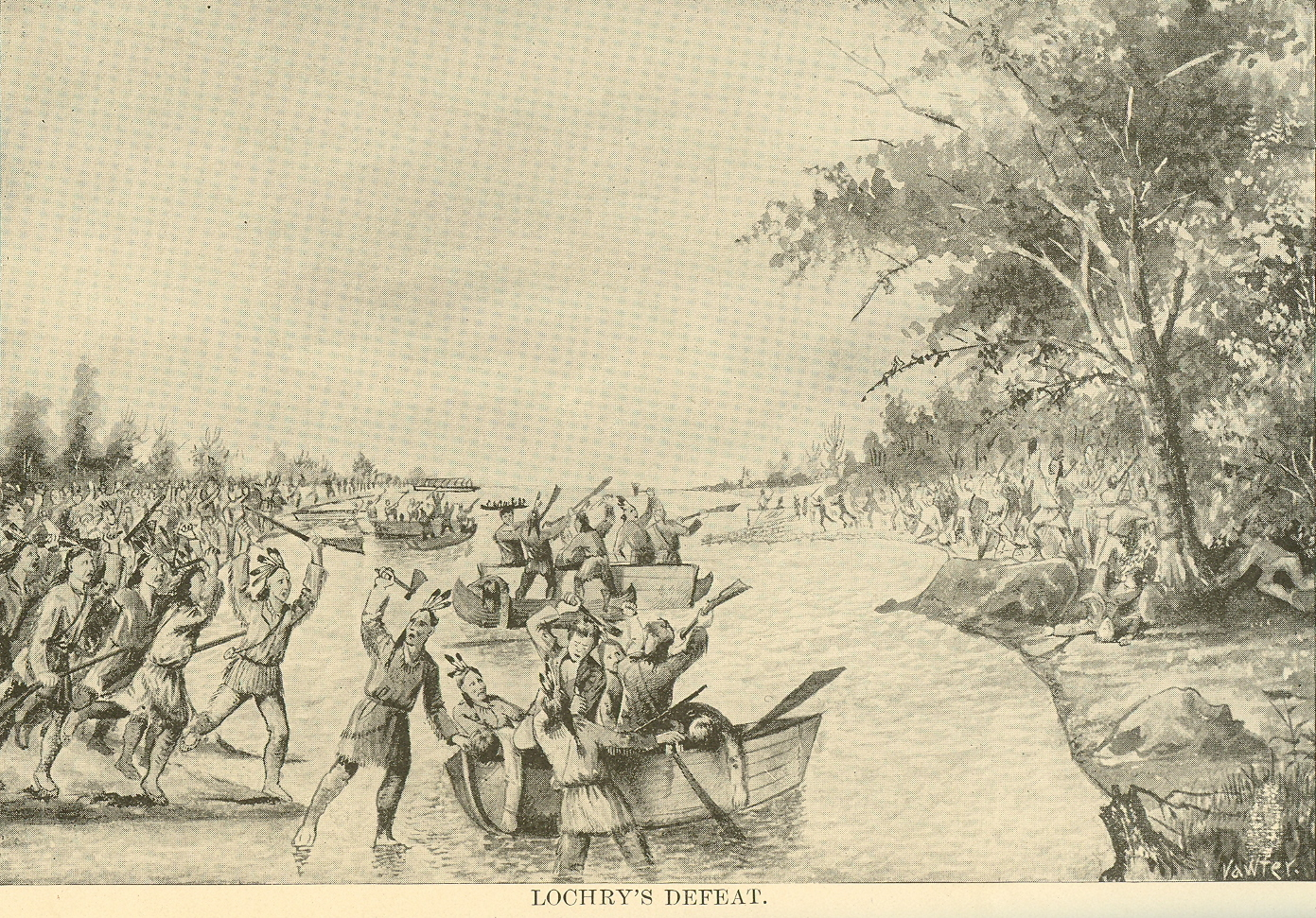 An illustration of Lochry's Defeat