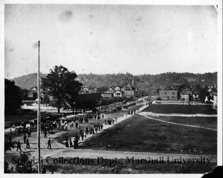 5th Ave, from Oley School looking North along 13th St, 1889