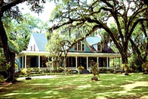The plantation is surrounded by 50 acres of ancient live oaks as well as a formal garden filled with antebellum charm.