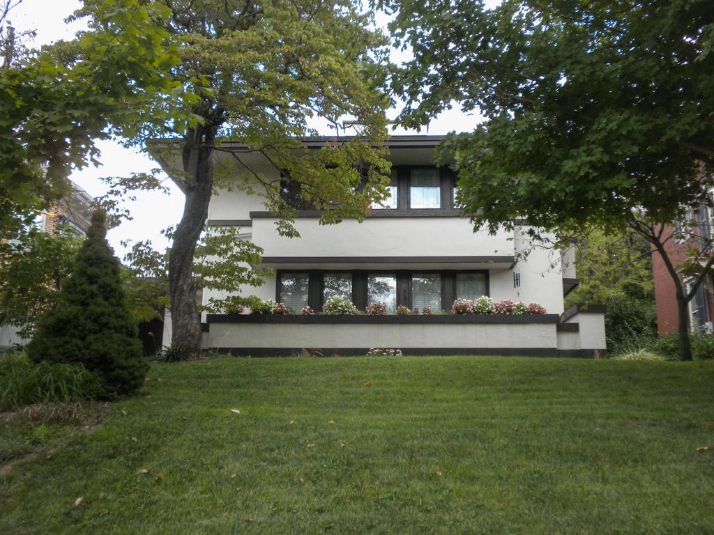 Ziegler House designed by Frank Lloyd Wright.  Photo by Cristina Carbone of SAH Archipedia