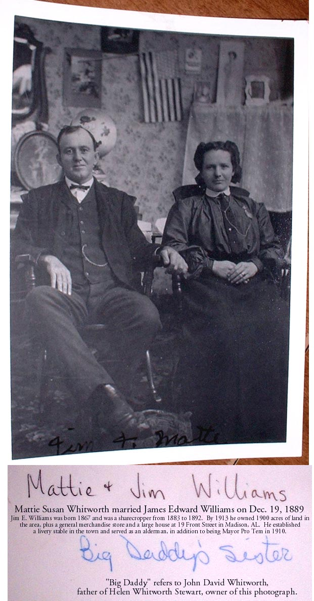Photo of Jim and Mattie Williams