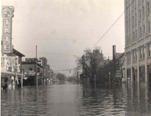 The State, left, during the flood of 1937
