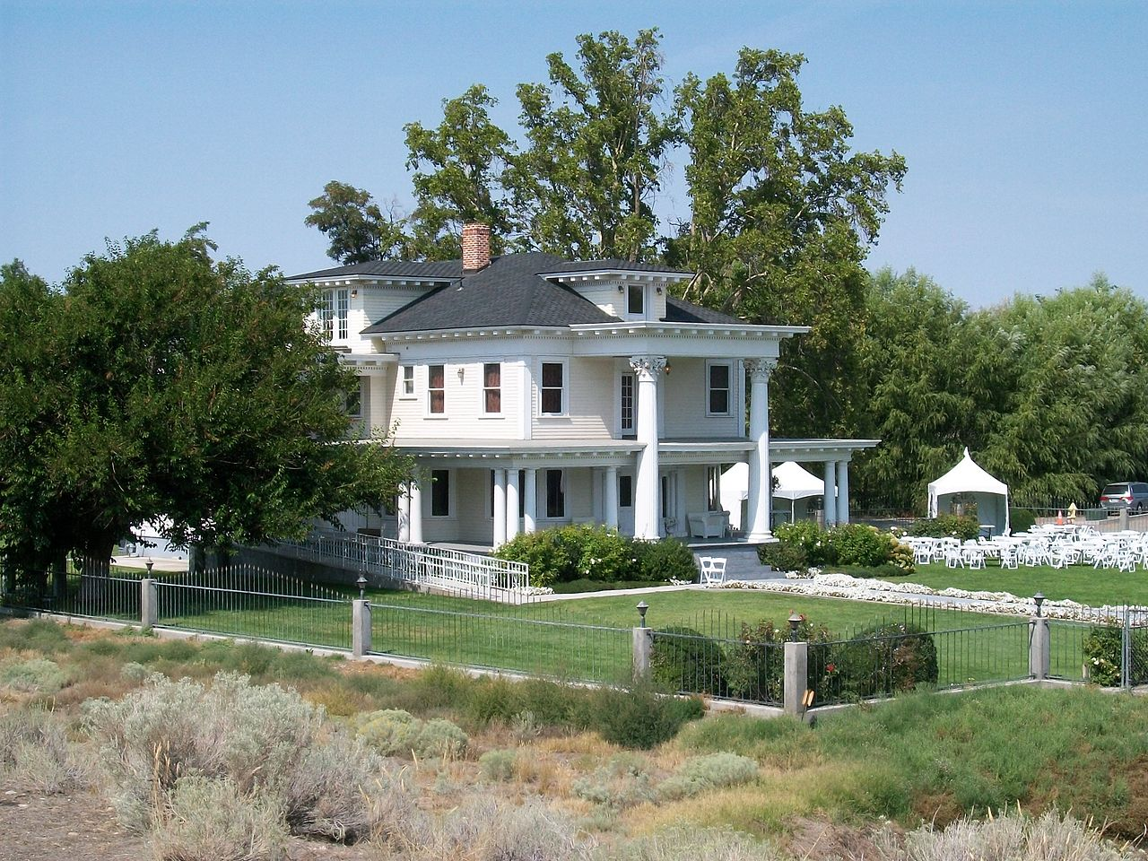 The James Moore Mansion was built in 1908. It is a fine example of Beaux Arts architecture and an important landmark in Pasco.