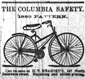 """This is the """"Columbia Safety Bicycle"""" that Henry T. Hearsey created."""