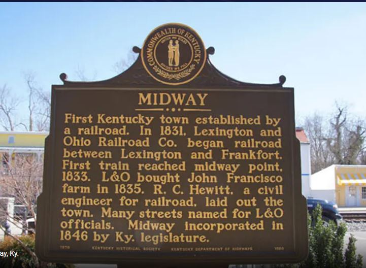 Midway Historical Marker Sign