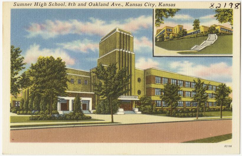 Sumner High School just after completion in 1939